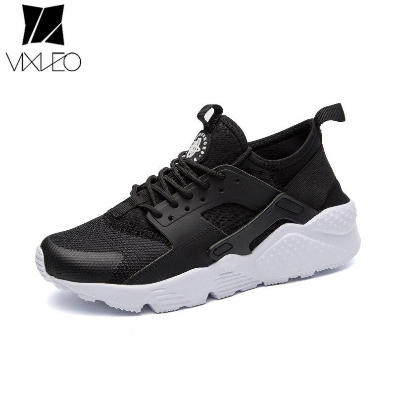 VIXLEO Бесплатная доставка 2018 новое поступление кроссовки Для мужчин Для женщин белый красные, черные унисекс кроссовки для продажи сетки воз...