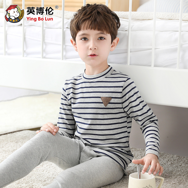100% Cotton Skin-friendly Boys Long Johns Teen Underwear Sets Soft Thin Pajamas Kids Homewear Baby Night Wear Young TeenageAAAAA100% Cotton Skin-friendly Boys Long Johns Teen Underwear Sets Soft Thin Pajamas Kids Homewear Baby Night Wear Young TeenageAAAAA