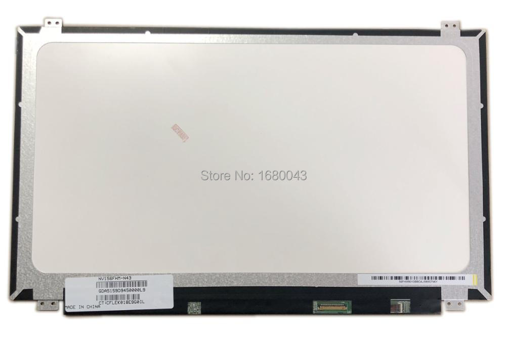 NV156FHM-N43 fit NV156FHM-N41 NV156FHM-N42 LP156WF4 SPU1 LP156WF6 SPF1 IPS 30 PIN EDP 1920X1080 LAPTOP LCD SCREEN PANEL
