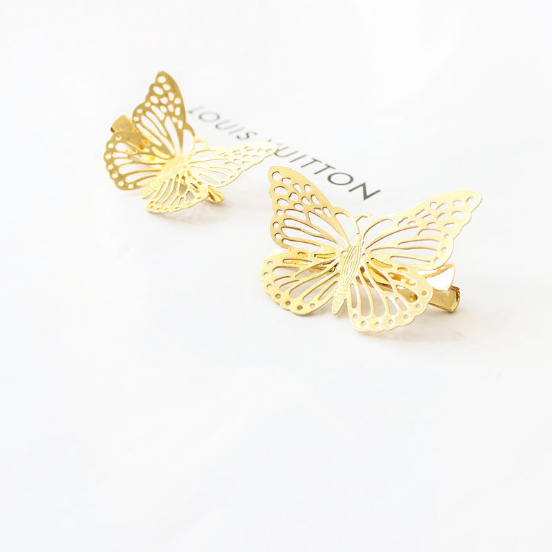 2018 Hot Sale 6Pcs Shiny Hair Clips Women Left Right Butterfly Hair Accessories Styling Tools Headpiece Barrette Wedding Decor