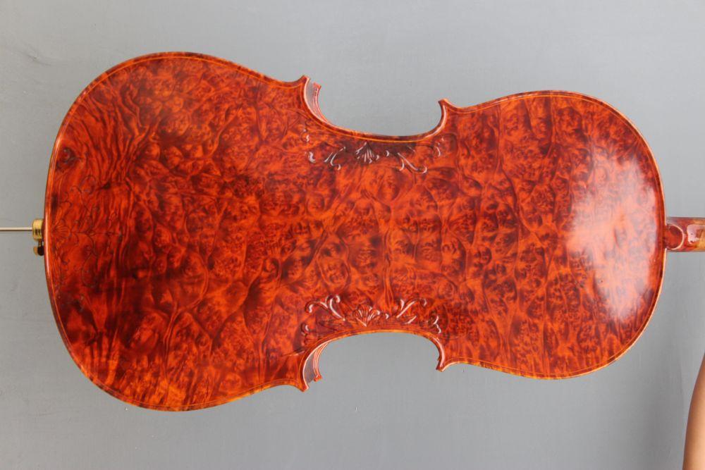 4/4 Cello Old Birdeye Maple Spruce Nice Finished Powerful Sound Master  #006 austrian spruce ch j b collion mezin copy french master violin no 1408 nice sound antique violin100% handmade