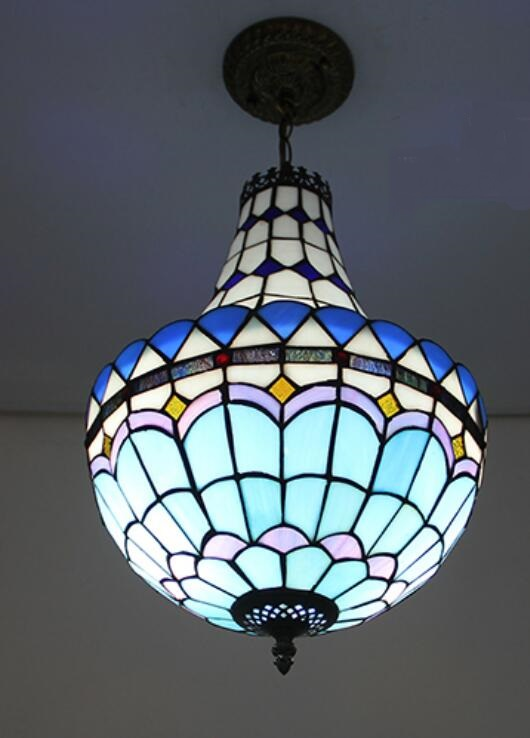 Tiffany pendant light restaurant dining room lighting cashier counter Bar Cafe corridor creative living room lamp tiffany restaurant pendant lamp in front of the hotel cafe bar small aisle entrance hall pendant light creative pendant lamps za