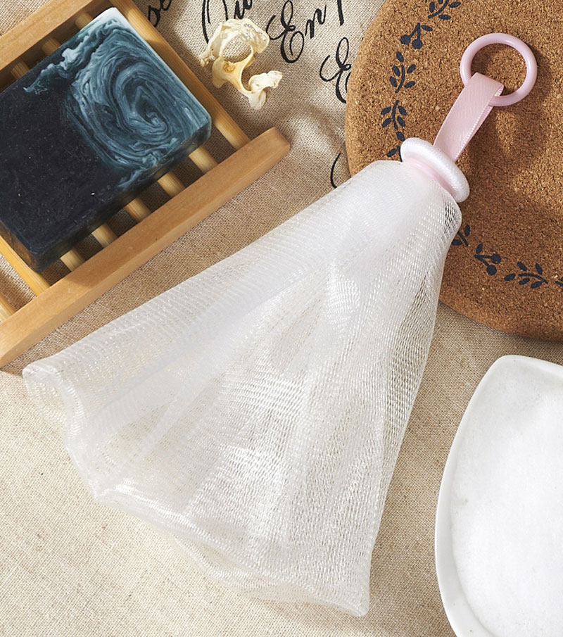 5PCS oap Foaming Net Face Cleansing Shower Soap Bag Easy Bubble Mesh Bag Foam Net Suitable for All Kinds of Skin in Bath Brushes Sponges Scrubbers from Home Garden