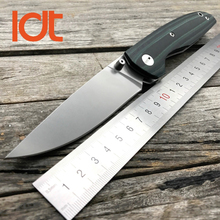 цена на LDT 110 F95 Folding Knife D2 Blade G10 Handle Ball Bearing Camping Knives Military Tactical Hunting Pocket knife Tools EDC