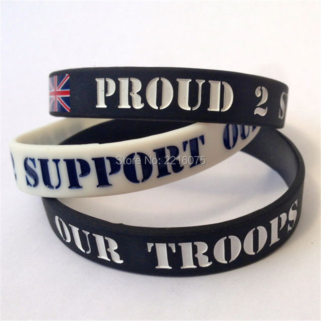 300pcs Proud 2 Support Our Troops Wristband Silicone Bracelets Free Shipping By Dhl Express