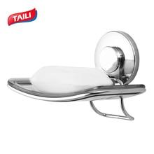 Chroom roestvrij staal zeepbak plank voor badkamer keuken organisator opbergrek badkamer hoek zuignap zeep houder