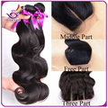 Brazilian Virgin Hair Body Wave 3pcs lot Swiss Lace Base Closure With Silk Bundles free/middle/3 Part Wavy Human Hair Weave