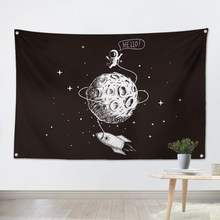 Astronaut American style room decoration hang cloth hanging flag bar studio tide shop home wall decoration background(China)