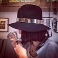 Recessionista moda los sombreros de ala m - círculo de metal sombreros de ala de lana sunbonnet de ala ancha sombrero femenino