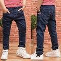 Novo 2017 Crianças Jeans Para Meninos Outono e Primavera Escuro Calças Do Bebê Crianças Calças de Brim azul Denim Lavado Meados Calça Jeans Menino calças