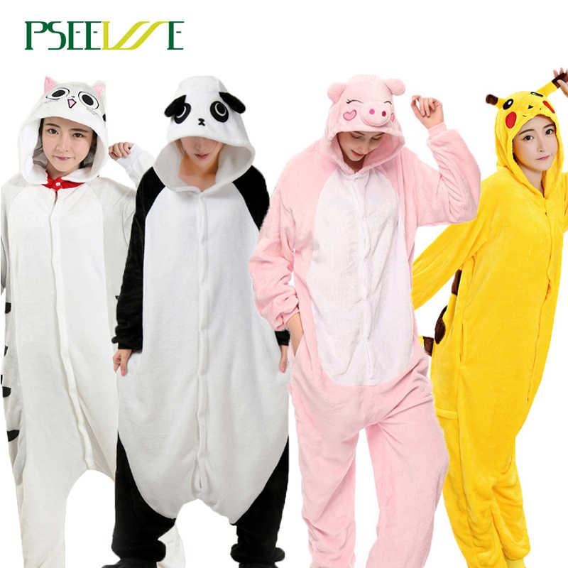 ... связь Вопросы о PSEEWE зимние пижамы для девочек для Женщин Единорог  панда стежка комбинезоны пижамы с животными для взрослых мультфильм косплэй  унисекс ... 98e4c0014d4a3