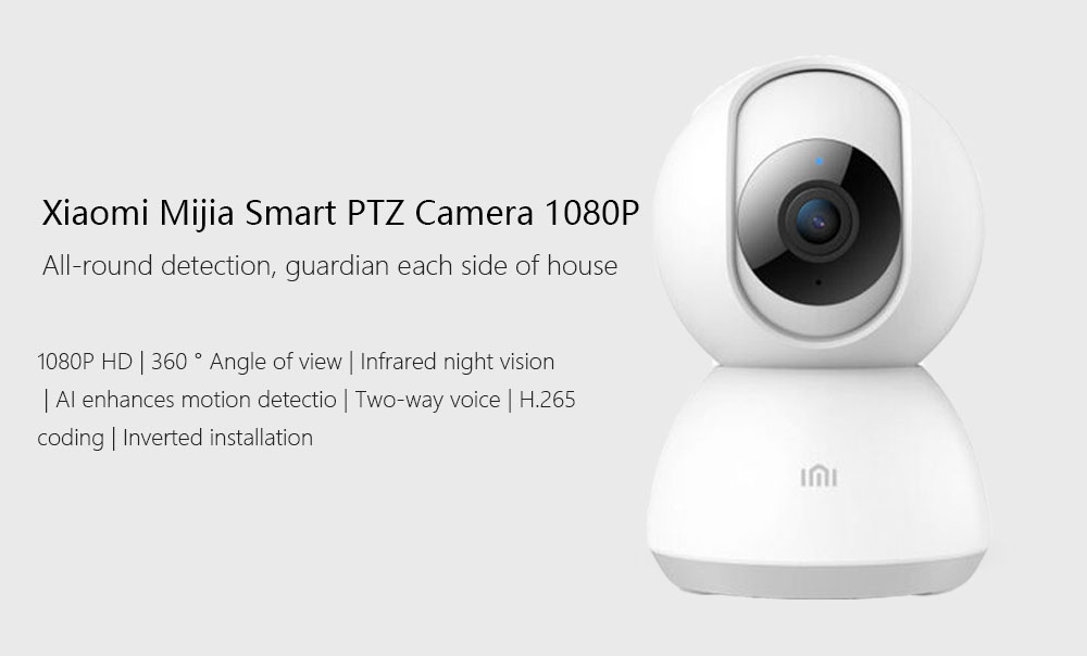 Updated Version Xiaomi Mijia Full 1080P HD Smart IP Camera 360 Video CCTV  WiFi Pan-tilt Night Vision Webcam Security Monitor