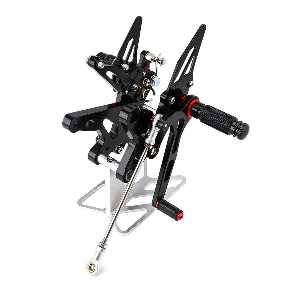 KEMiMOTO Motorcycle Parts For Ninja 400 CNC Adjustable Rearsets For KAWASAKI NINJA400 2018 2019 Rear Set