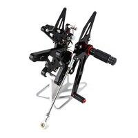 KEMiMOTO Motorcycle Parts For Ninja 400 CNC Adjustable Rearsets For KAWASAKI NINJA400 2018 2019 Rear Set Foot Rest