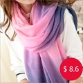 Free Shipping Women Long Pashmina Stole Tassels Winter Gradient Color Wool Scarf Shawl Wrap gradient scarf colorant match scarf