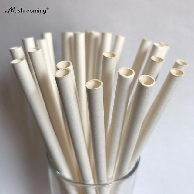 Paper Straws Plain White Paper Straws Solid White Paper