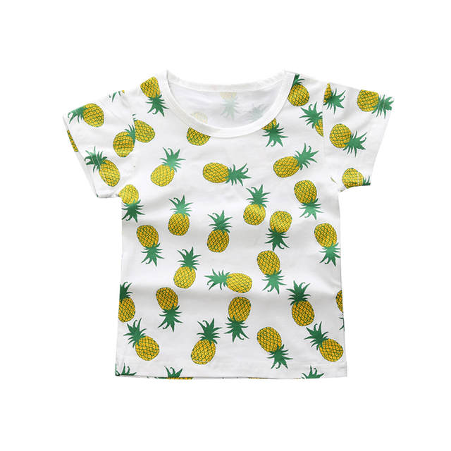36ee06ee560 placeholder Newest Fashion Cute Baby Girls Kids t Shirts Pineapple Print  Summer One-pieces Casual T