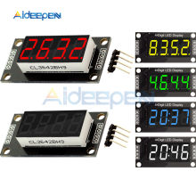 "TM1637 LED Display Clock Module 0.36"" 4 Digit 7 Segment Tube Four Serial Driver Board For Arduino Red/Green/Yellow/Blue/White(China)"