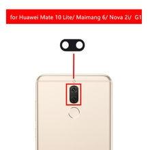 2 piezas para Huawei Mate 10 Lite Maimang 6 G10 Lente de Cristal de la  cámara trasera lente de cristal con piezas de repuesto de. 163e4250ad