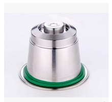 STAINLESS STEEL Metal Nespresso Machine Compatible Capsule Refillable Reusable