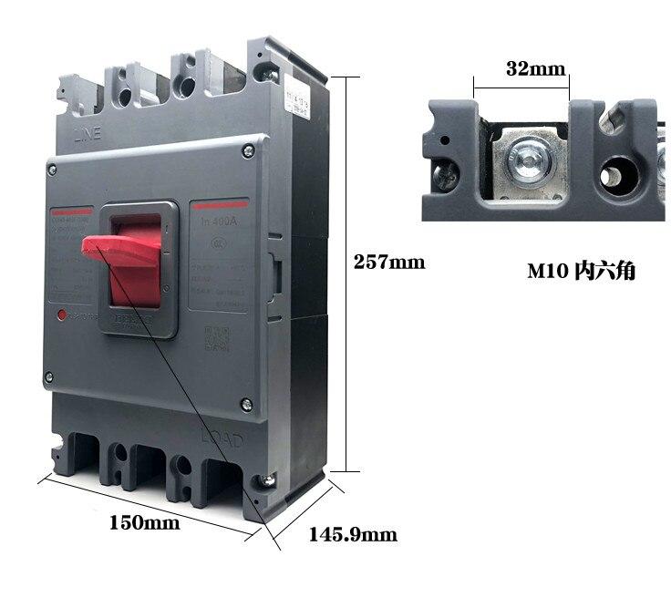 DELIXI CDM1/CDM3 3 P 315A 350A 400A 500A 630A commutateur D'air, disjoncteur
