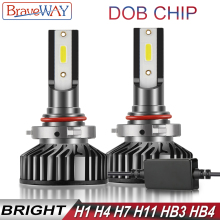 BraveWay DOB Chip 9006 9005 LED Bulb H4 H7 H8 H1 HB3 HB4 H11 LED Kit Headlight Bulb for Car Ice lamp H7 H1 LED Canbus Auto Light ev12 car headlight led h7 h4 h1 9005 hb3 9006 hb4 h11 60w 6000lm auto dob led lamp 12v ice blue car light plug and play