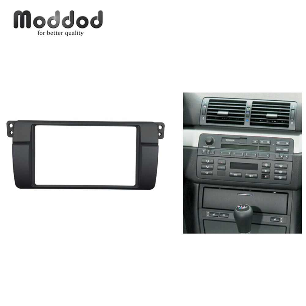 180*105mm Opening for BMW 3 Series E46 Double Din Fascia Radio DVD Stereo Panel Trim Kit Refitting Installation Frame