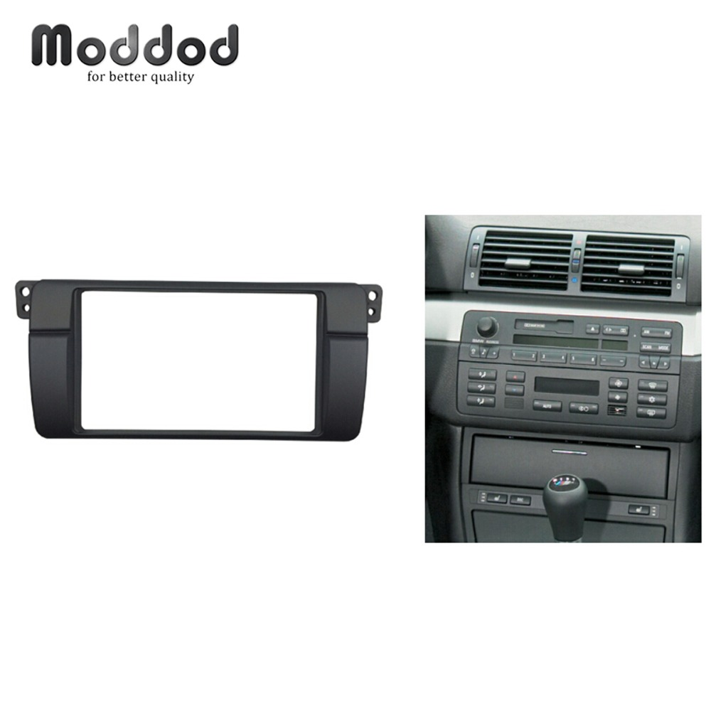 180*105mm Opening for BMW 3 Series E46 Double Din Fascia Radio DVD Stereo Panel Trim Kit Refitting Installation Frame-in Fascias from Automobiles & Motorcycles