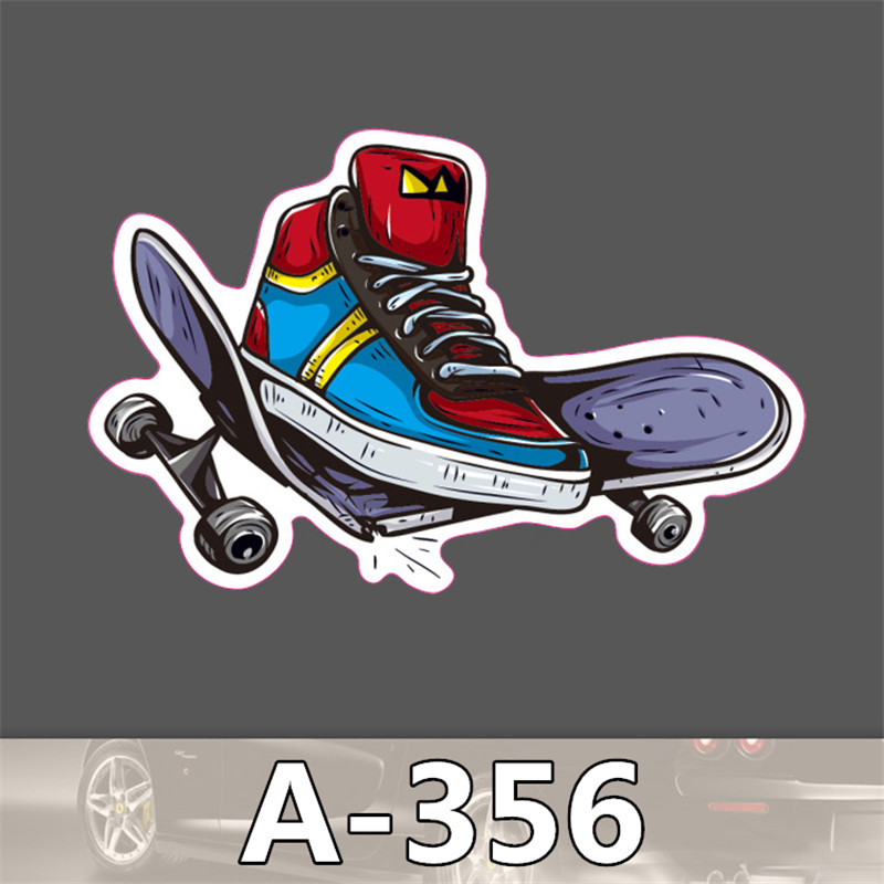 Fashion cool Skateboard shoes styling funny cool sticker