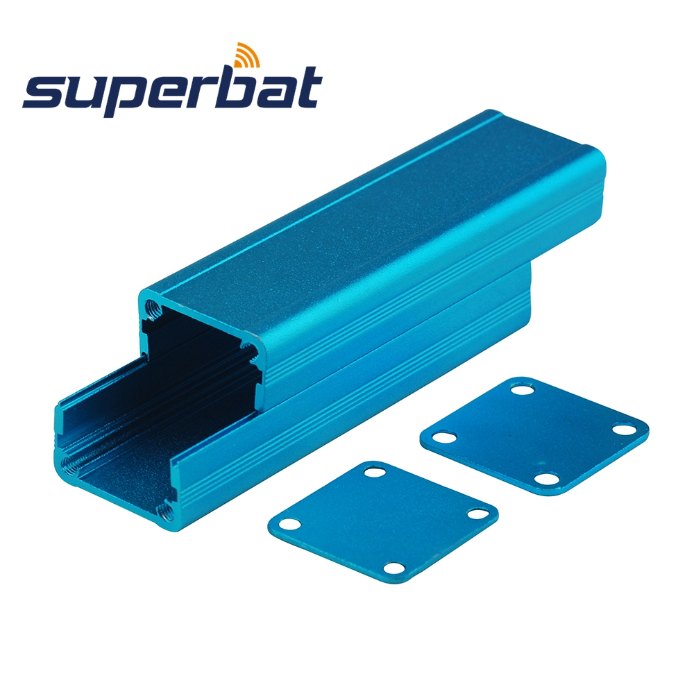 Superbat 80*24.5*24MM Blue Extruded Aluminum Enclosure Case Screw Junction Box PCB Instrument Electronic DIY 3.15