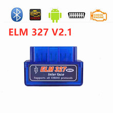50pcs/Lot ELM327 Super MINI Blue Bluetooth V2.1 Works For Android Torque ELM 327 OBD2 Scanner Car Diagnostic Code Reader