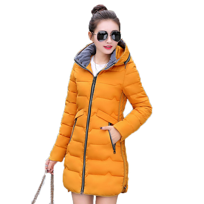 2017 New Jacket Women Winter Coat Womens Medium-Long Cotton Padded Warm Jacket High Quality Hot Sale Women Parkas Fashion 2017 new fashion winter coat women warm outwear padded cotton jacket coat womens clothing high quality parkas manteau femme 520