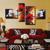 100 Hand Painted High Quality 4P Abstract Flower Oil Painting On Canvas Home Art Decoration Modern