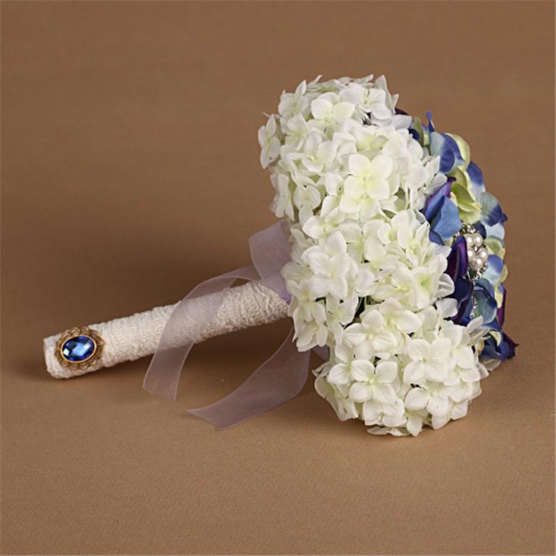 New Artificial Wedding Bouquets Crystal Bridal Bouquet Wedding Bouquet Wedding Flowers Bridal Bouquets Hydrangea Flower Bouquet (5)