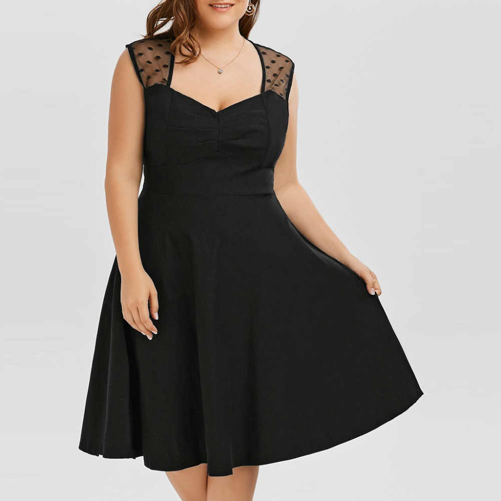 女性ドレス夏プラスサイズノースリーブ V ネックフィットとフレアセクシーなクラブ夏の女性膝丈のドレス vestido セクシーな #15