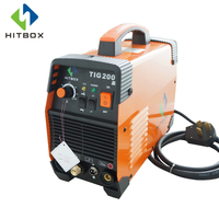 HITBOX INVERTER WELDER DC GAS TIG200 WELDING MACHINE TIG MMA FUNCTION 220V IGBT WELDING MACHINE PORTABLE SIZE WELDING EQUIPMENT