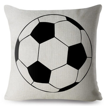 Football Pillow Cover, cushions for kids, boys bedroom cushions