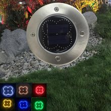 Solar Powered Disk Lights Solar Power Buried Light Waterproof Path Way Garden Decking 50LED For Under Ground Lamp Outdoor 1 2 4 pcs 8 led solar powered ground light grass lamp outdoor pathway garden decking waterproof solar powered light