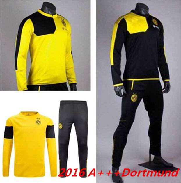 9011c4db3f6ce 15 2016 Survetement football Borussia Dortmund training chandal futbol  Dortmund soccer tracksuits Dortmund jacket training pants
