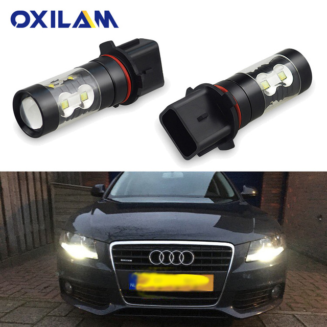 OXILAM P13W PSX26W LED Bulbs for Audi A4 S4 Q5 Peugeot 508 Mazda CX-5 DRL Daytime Running Lights Auto Replacement Lamp 12V