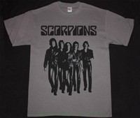 Scorpions Love At First Sting Band Grey T Shirt Heavy Metal Hard Rock Msg