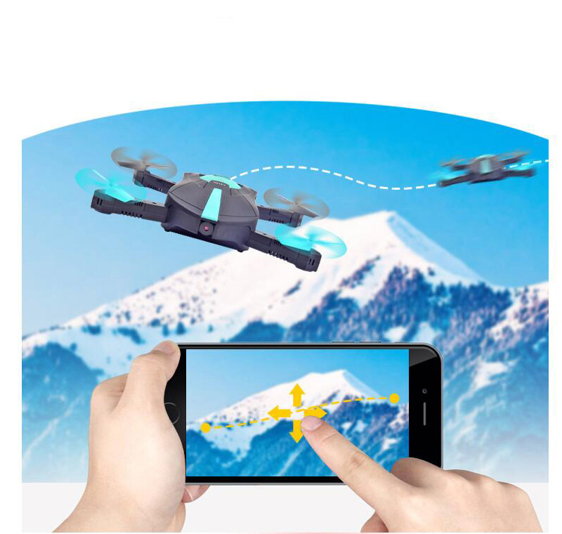 720P RC Helicopter Foldable Mini Drone FPV Quadcopter Aircraft Selfie Drone Foldable Drone JR018 RC Car Drones With Hd Camera(China)
