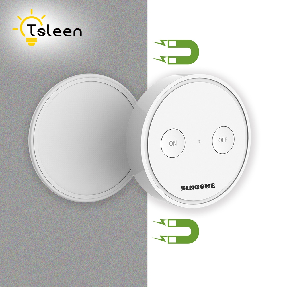 TSLEEN Smart Home Digital Wireless Remote Control Switch For Ceiling Lights Wall Lamp Moved To Any Place Without Punching ifree fc 368m 3 channel digital control switch white grey