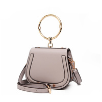European And American Style Summer Shoulder Bags Saddle Socialite Women S Handbag New Style Round Ring