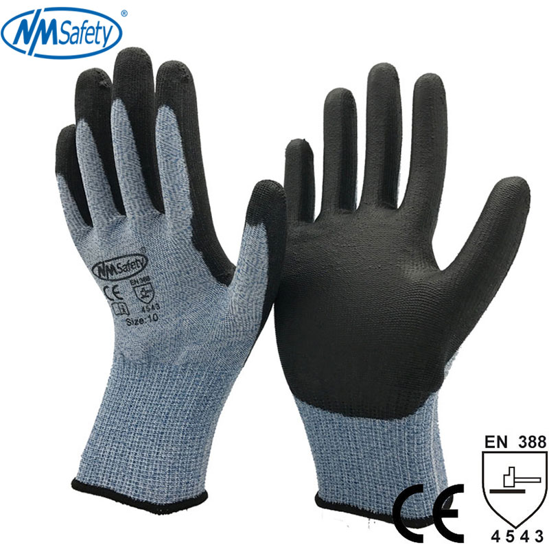 NMSafety High Soft Metal Stamping Glass Handling Safety Handve Anti Cut Work Glove