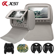 Monitor DVD Video-Player Car-Headrest Capacitance-Screen XST TFT Support 9inch 2PCS LCD