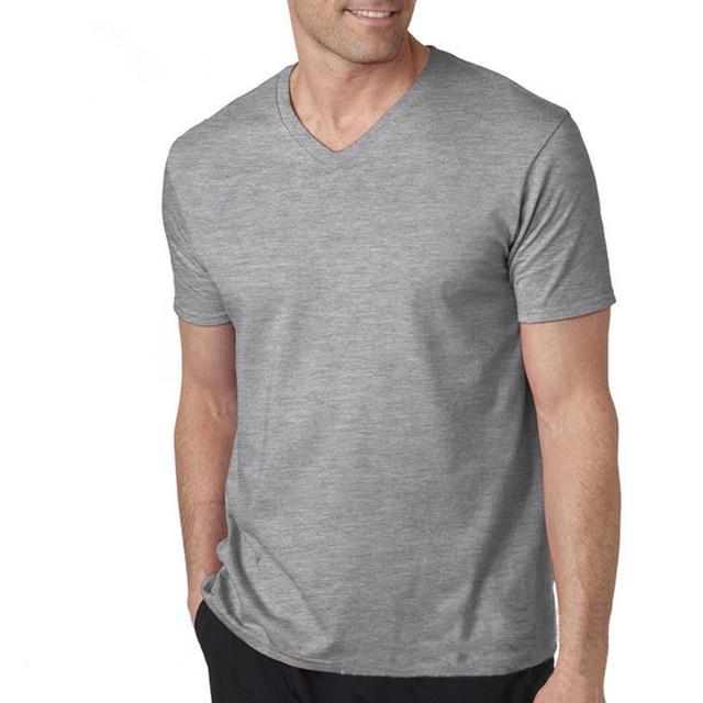 T Shirt Men Designs V Neck Collar Tshirt Mens Short Sleeve Shirts ...
