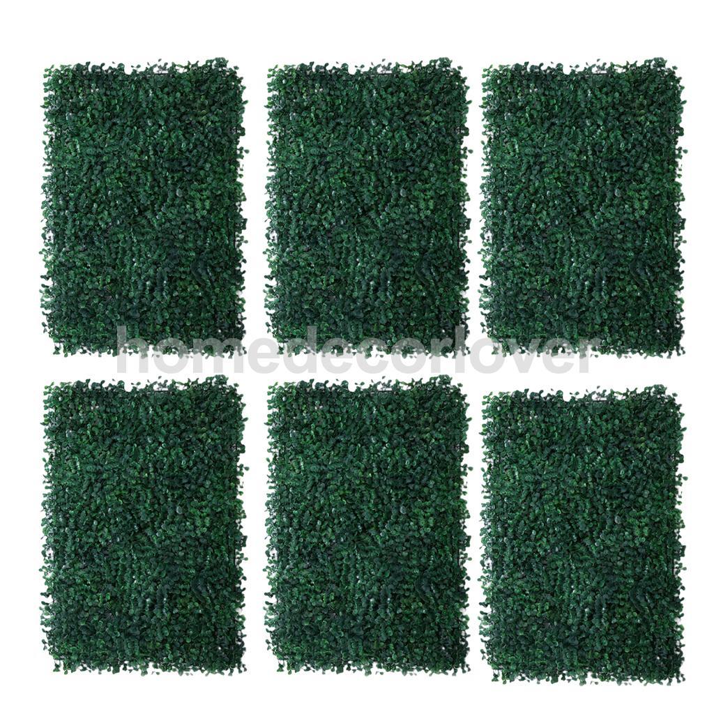 6Pieces Artificial Plant Flower Wall Panels Wedding Venue Backdrop Milan Grass