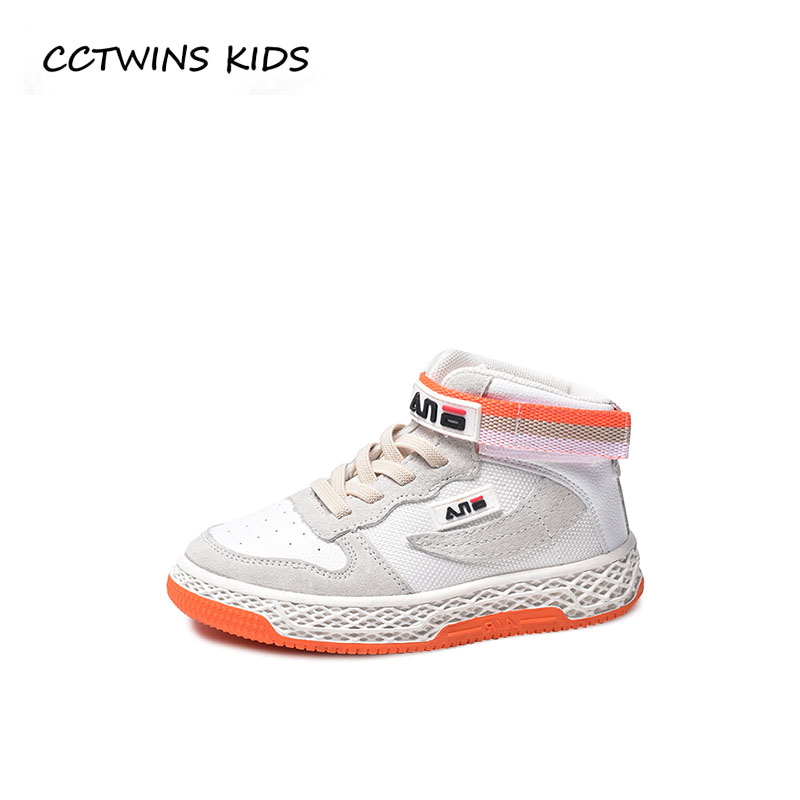 купить CCTWINS KIDS 2018 Autumn Boy Pu Leather Trainer Children Fashion Casual Sport Shoe Baby Girl Brand High Top Sneaker FH2284 по цене 1827 рублей