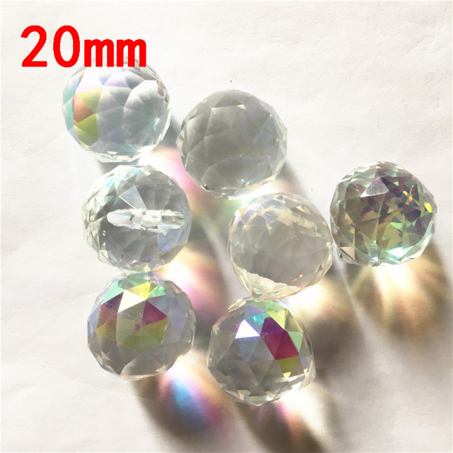 20pieces/Lot 20mm AB Suncatcher Crystal Faceted Ball  AAA Chandelier Crystals Ball Lighting Pendant Crystal Chandelier Parts